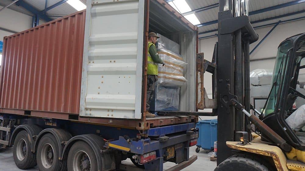 How to ship an incinerator internationally.